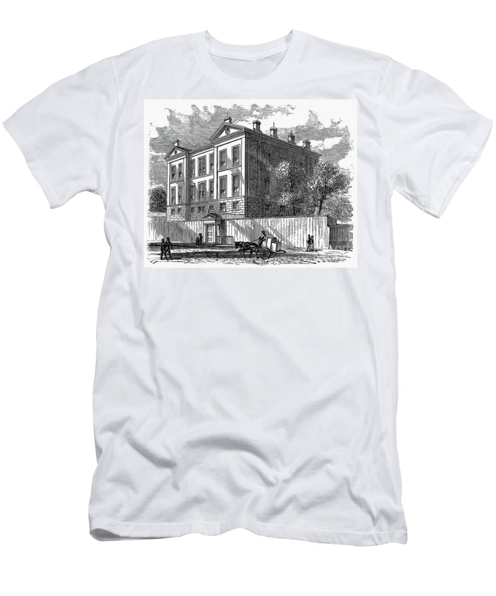 1868 Men's T-Shirt (Athletic Fit) featuring the photograph New York: Medical College by Granger