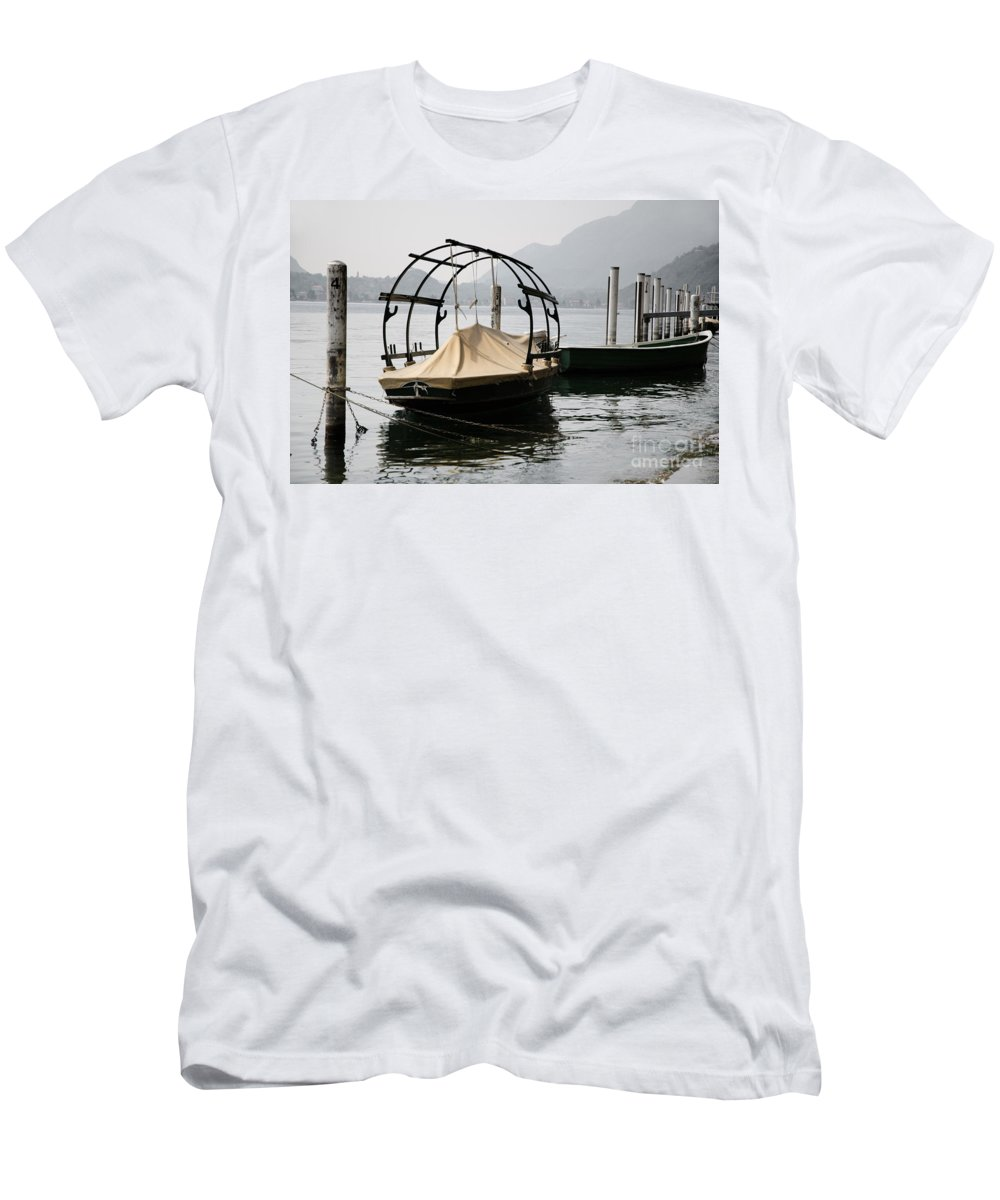 Boat Men's T-Shirt (Athletic Fit) featuring the photograph Old Fishing Boat by Mats Silvan