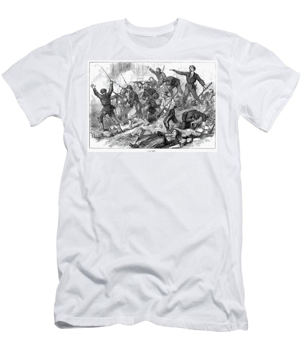 1871 Men's T-Shirt (Athletic Fit) featuring the photograph Paris Commune, 1871 by Granger