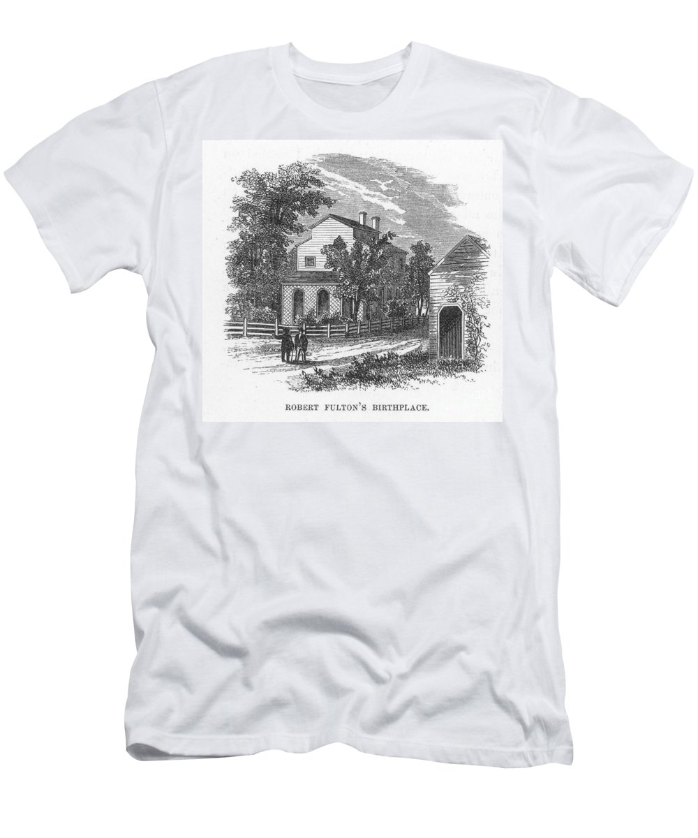 18th Century Men's T-Shirt (Athletic Fit) featuring the photograph Robert Fulton (1765-1815) by Granger