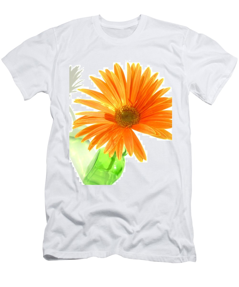 Gerbera Photographs Men's T-Shirt (Athletic Fit) featuring the photograph 2107c-001 by Kimberlie Gerner