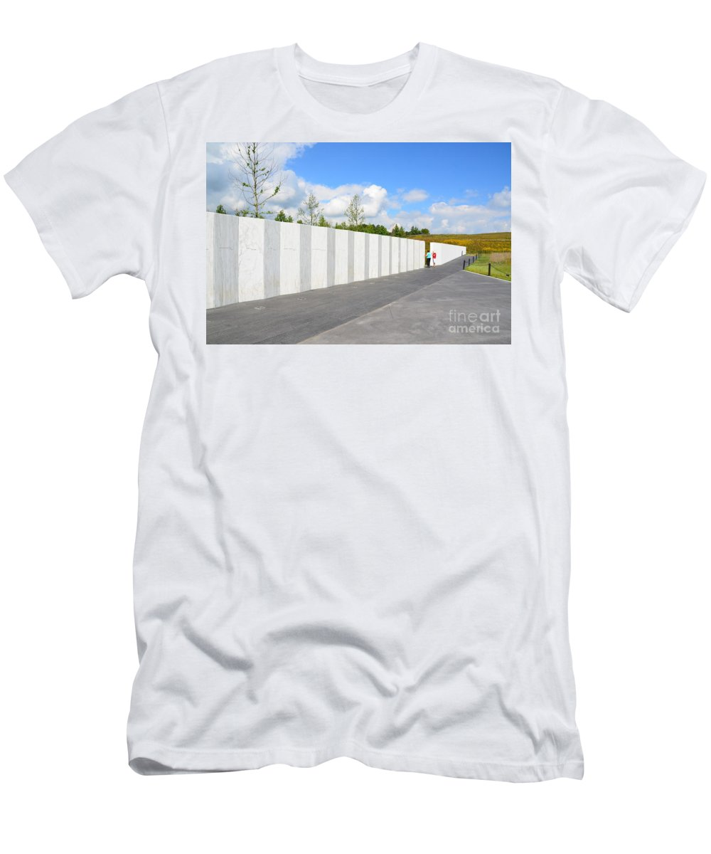 Men's T-Shirt (Athletic Fit) featuring the photograph Flight 93 Memorial by Randy J Heath