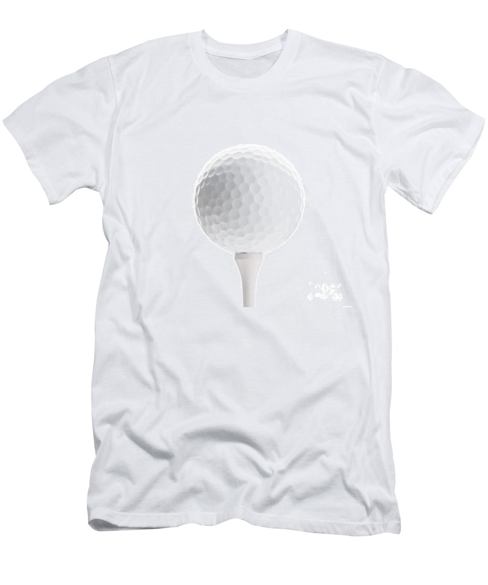 Golf Men's T-Shirt (Athletic Fit) featuring the photograph Golfball by Kati Finell
