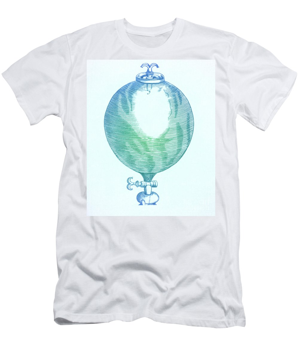 Air Men's T-Shirt (Athletic Fit) featuring the photograph Robert Boyles Air Pumps by Science Source