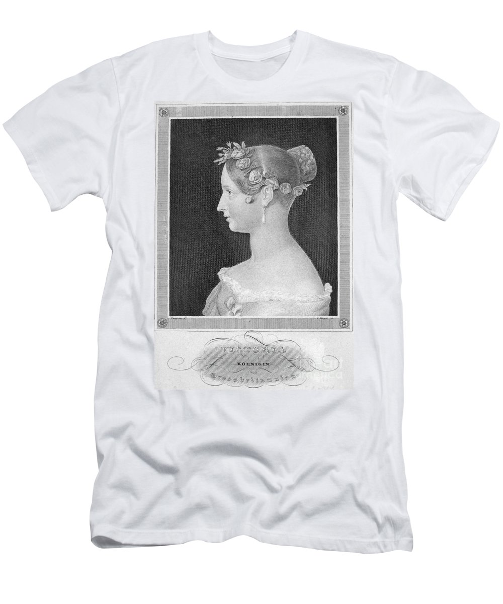 1840 Men's T-Shirt (Athletic Fit) featuring the photograph Victoria Of England by Granger