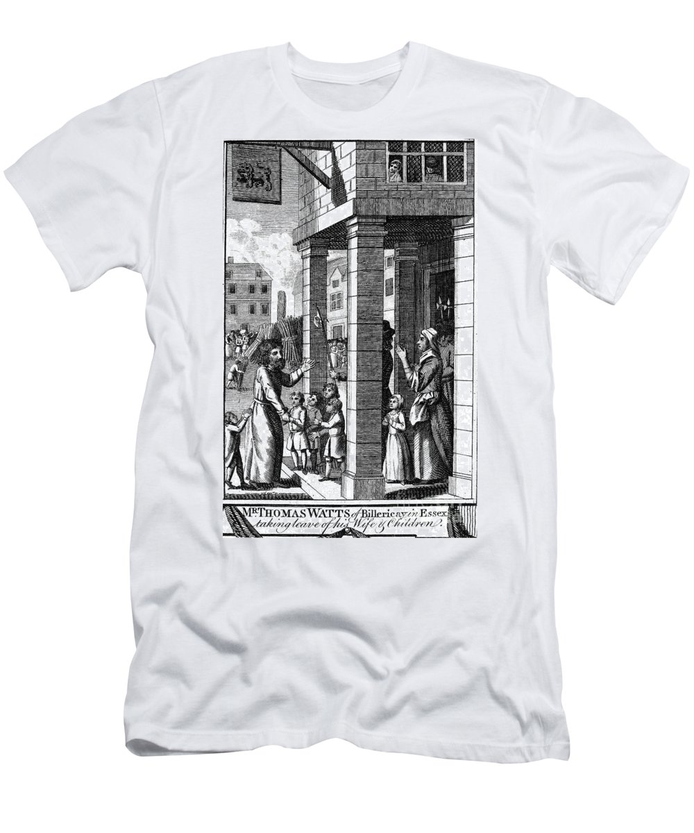 16th Century Men's T-Shirt (Athletic Fit) featuring the photograph Foxe: Book Of Martyrs by Granger