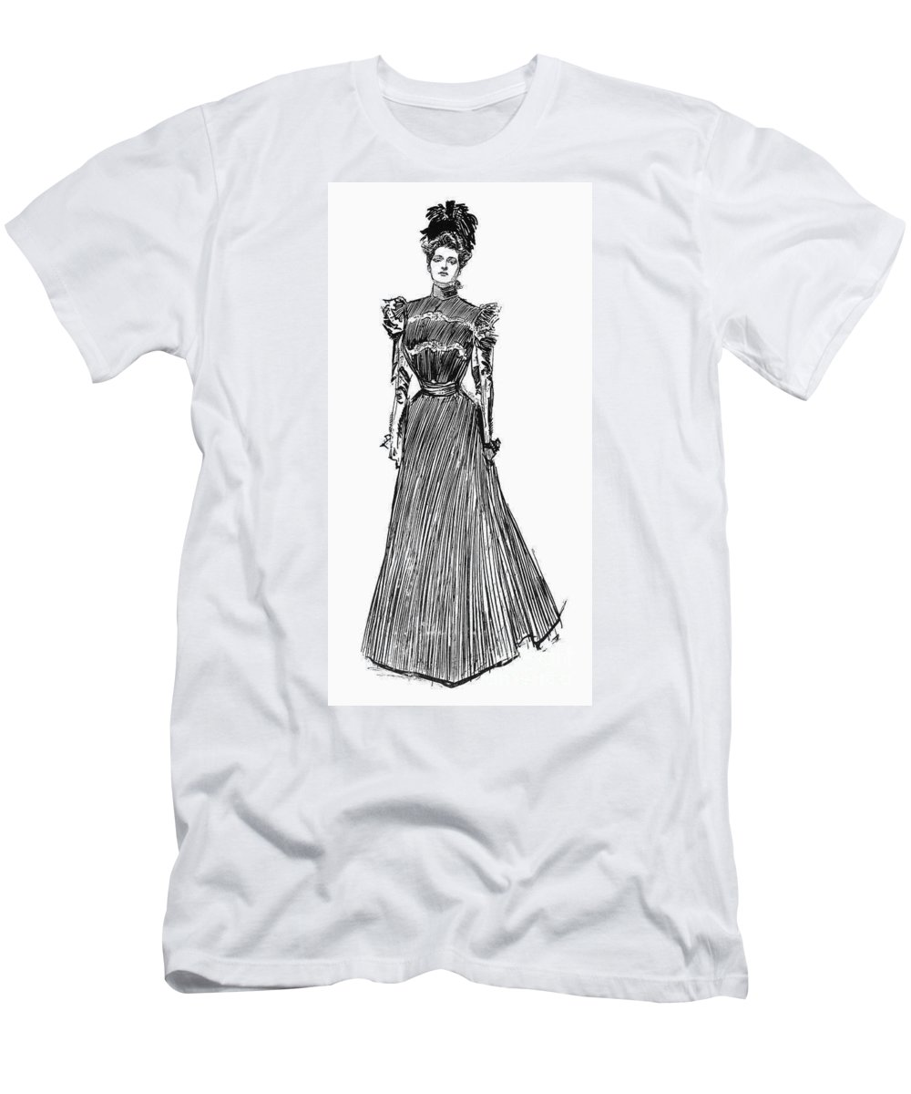 1899 Men's T-Shirt (Athletic Fit) featuring the photograph Gibson Girl, 1899 by Granger