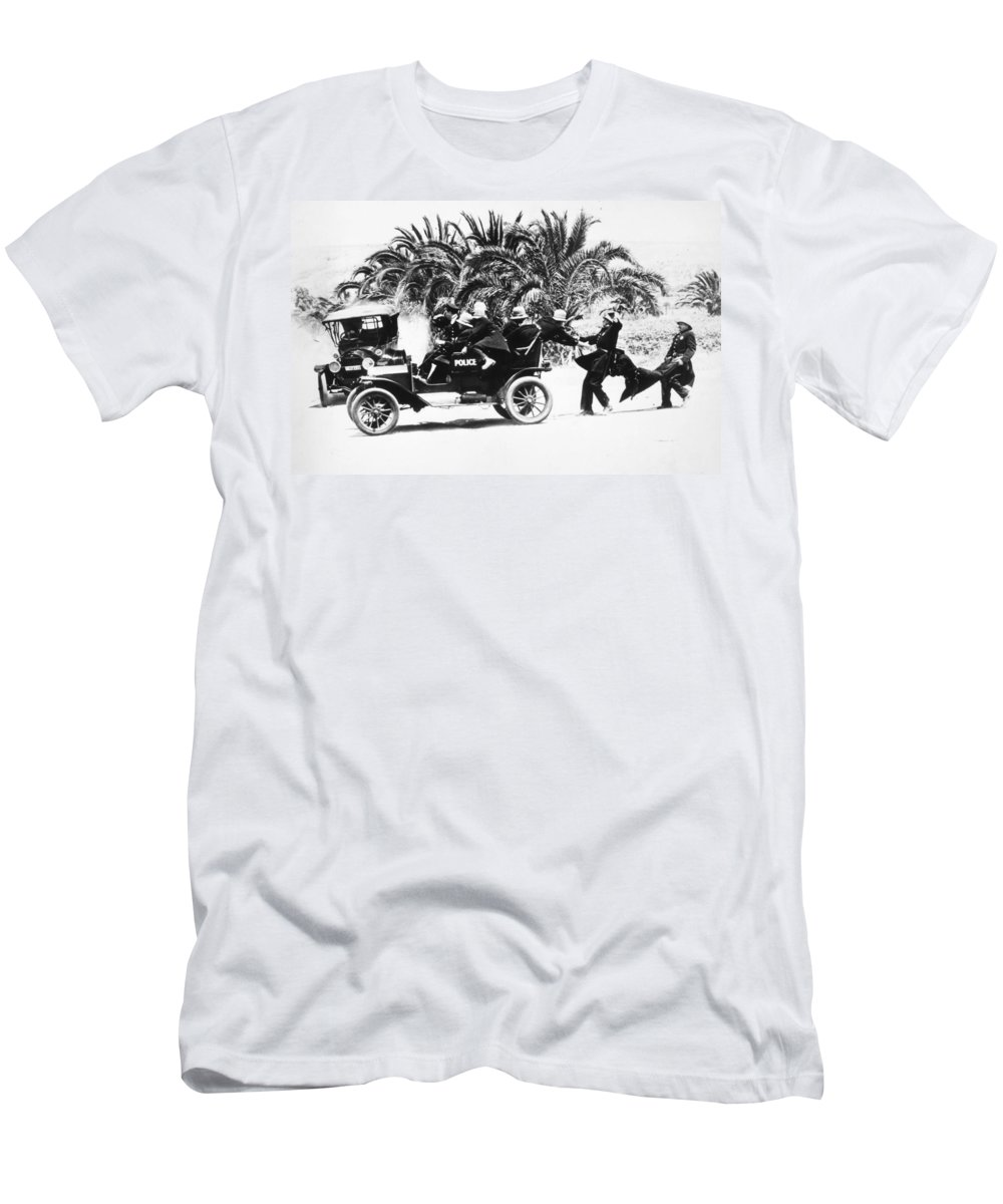 1910s Men's T-Shirt (Athletic Fit) featuring the photograph Keystone Kops by Granger