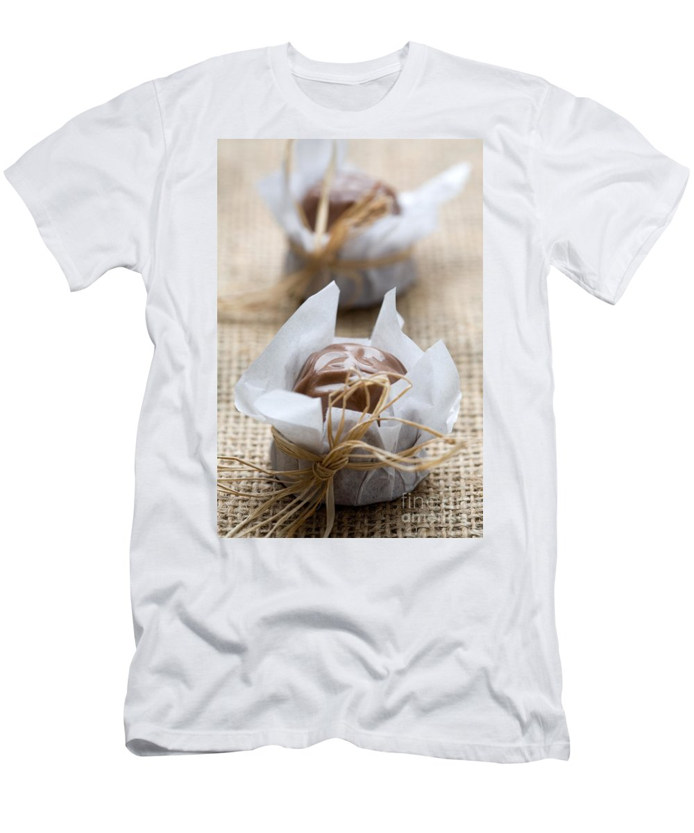 Chocolate Men's T-Shirt (Athletic Fit) featuring the photograph Milk Chocolate by Kati Finell