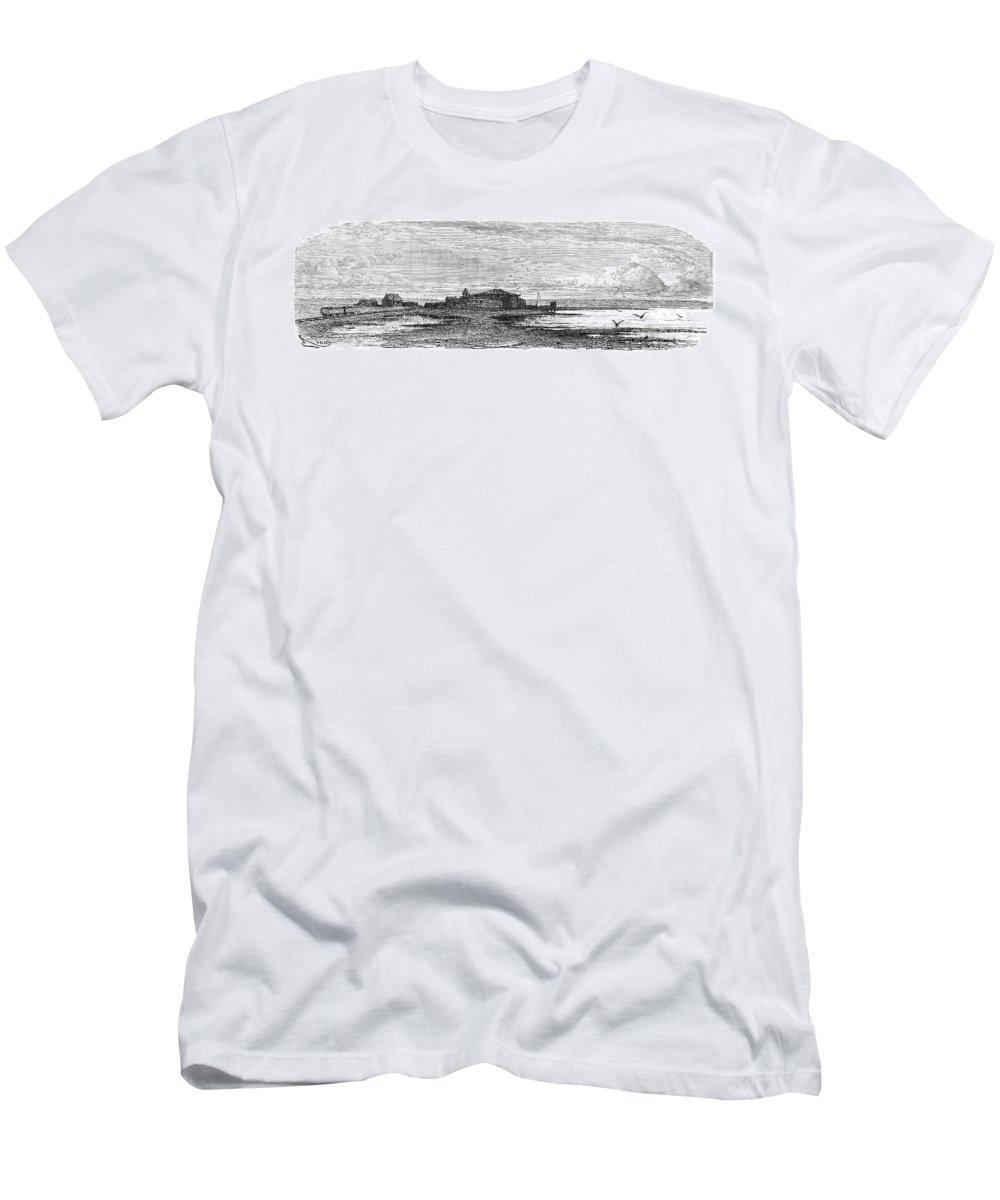1869 Men's T-Shirt (Athletic Fit) featuring the photograph Suez Canal Construction by Granger