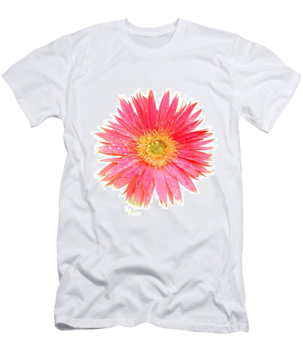 Gerbera Photographs Men's T-Shirt (Athletic Fit) featuring the photograph 5466pn by Kimberlie Gerner
