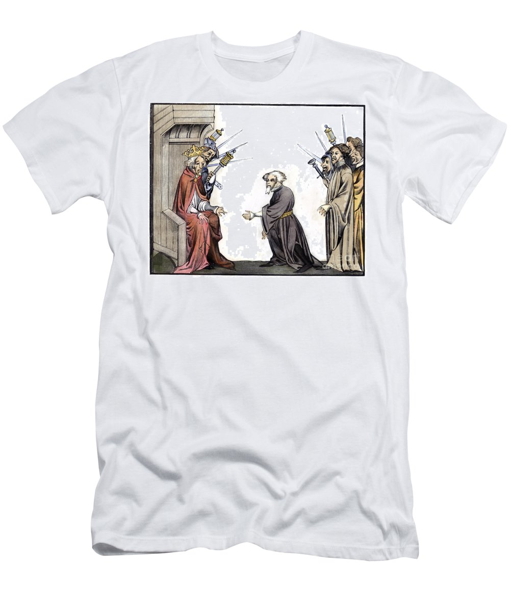 8th Century Men's T-Shirt (Athletic Fit) featuring the photograph Charlemagne (742-814) by Granger