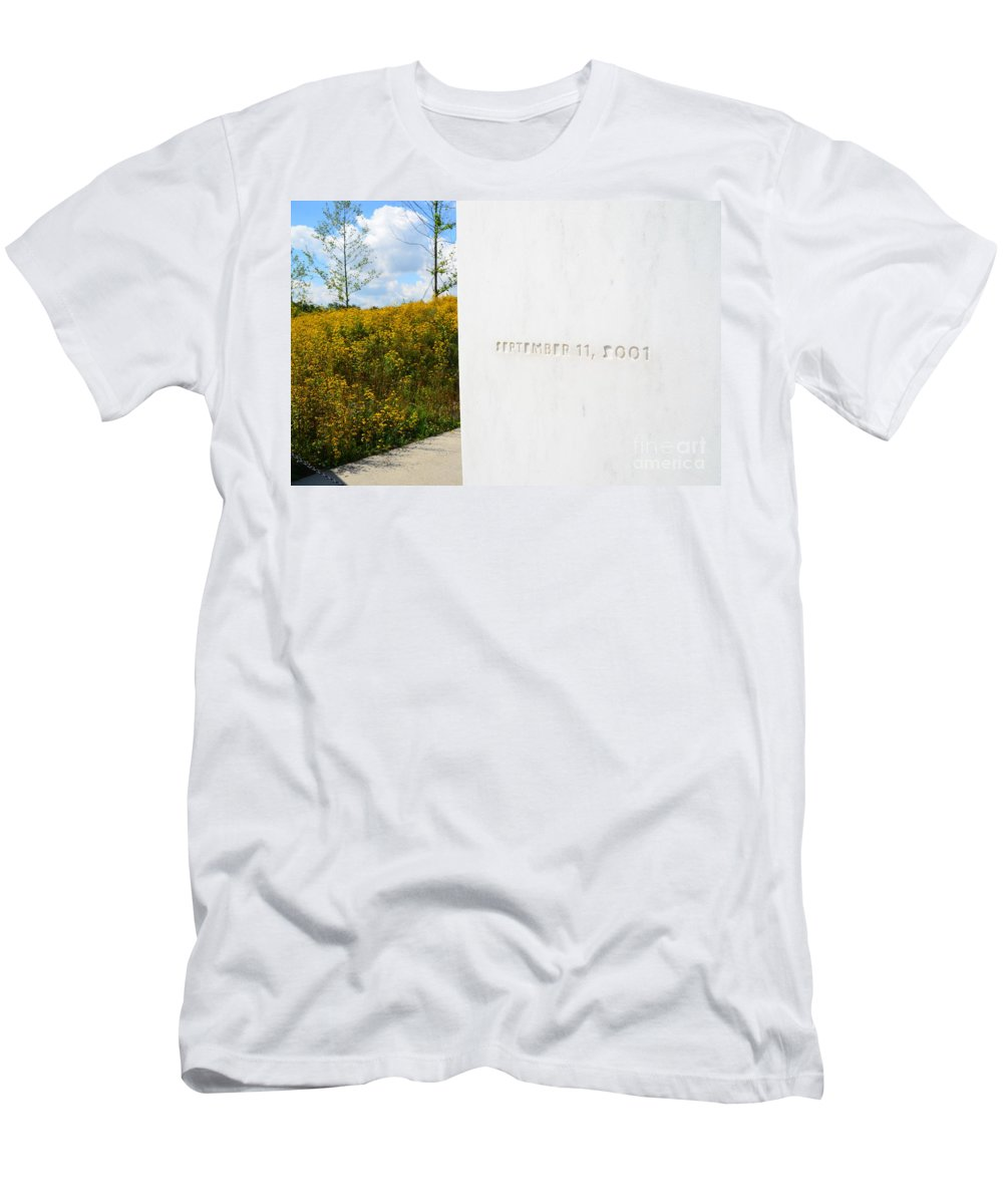 93 Men's T-Shirt (Athletic Fit) featuring the photograph Flight 93 Memorial by Randy J Heath