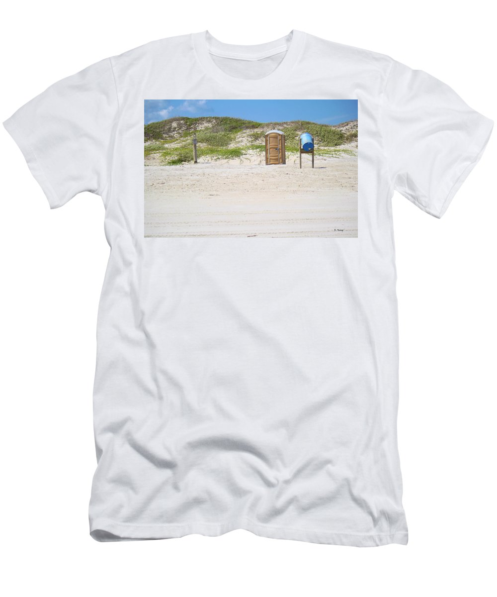 Roena King Men's T-Shirt (Athletic Fit) featuring the photograph A Full Service Beach by Roena King