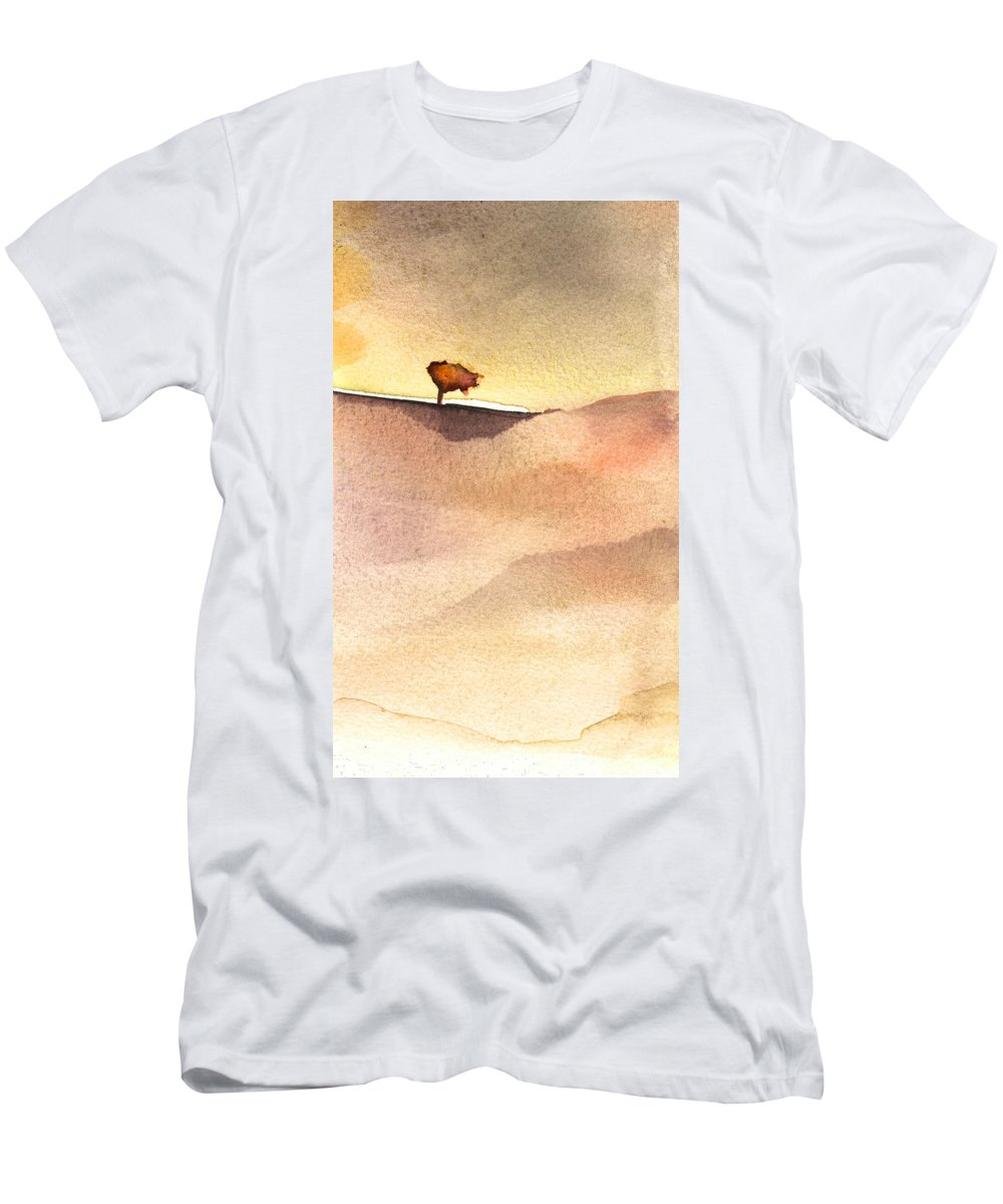 Aquarelle Men's T-Shirt (Athletic Fit) featuring the painting A Tree by Miki De Goodaboom