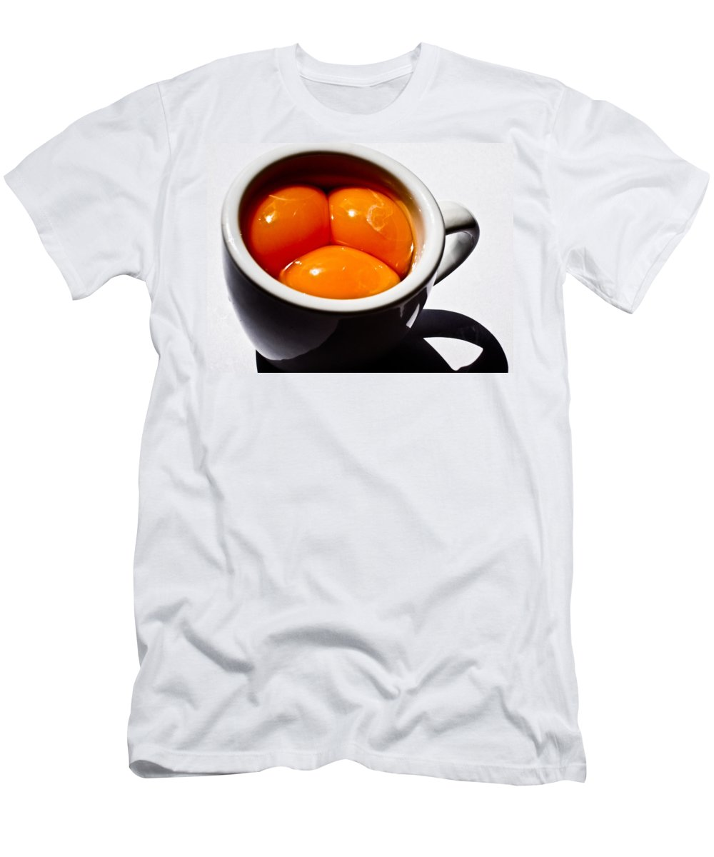 Art Men's T-Shirt (Athletic Fit) featuring the photograph A Triple Eggspresso by Hakon Soreide