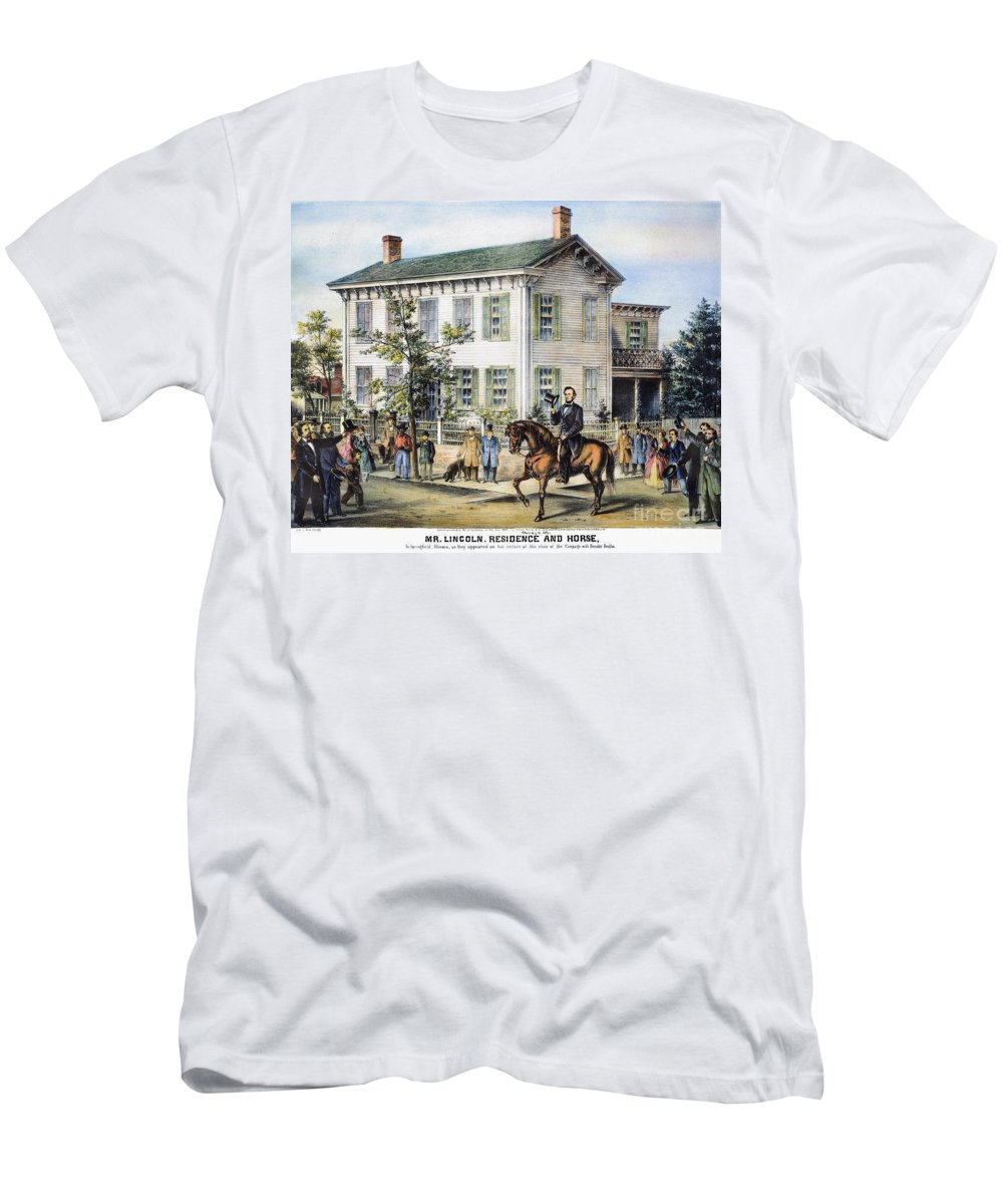 1865 Men's T-Shirt (Athletic Fit) featuring the photograph Abraham Lincolns Home by Granger