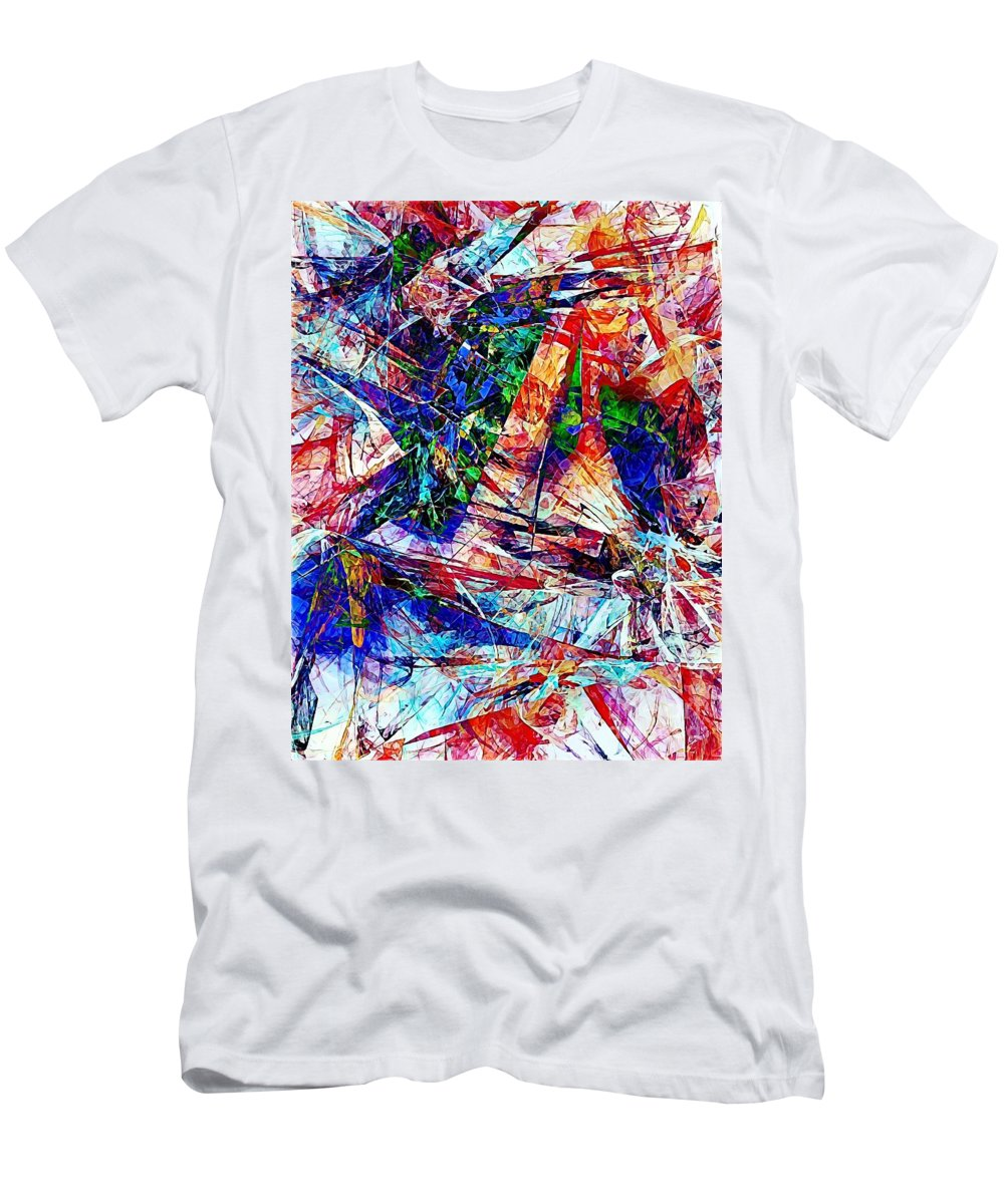 Graphics Men's T-Shirt (Athletic Fit) featuring the digital art Abs 0386 by Marek Lutek
