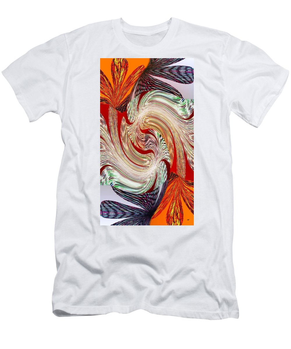 Abstract Fusion Men's T-Shirt (Athletic Fit) featuring the digital art Abstract Fusion 148 by Will Borden