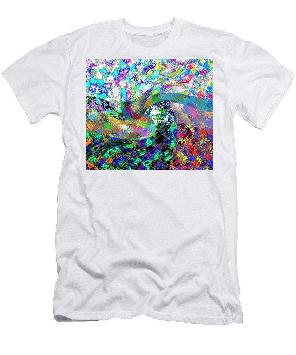 Abstract Fusion Men's T-Shirt (Athletic Fit) featuring the digital art Abstract Fusion 15 by Will Borden