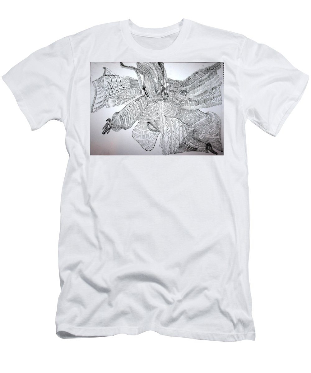 Jesus Men's T-Shirt (Athletic Fit) featuring the drawing Adowa Dance From Ghana by Gloria Ssali