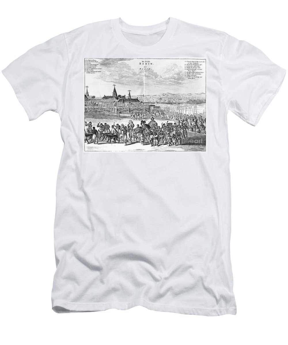 1686 Men's T-Shirt (Athletic Fit) featuring the photograph Africa: Benin City, 1686 by Granger
