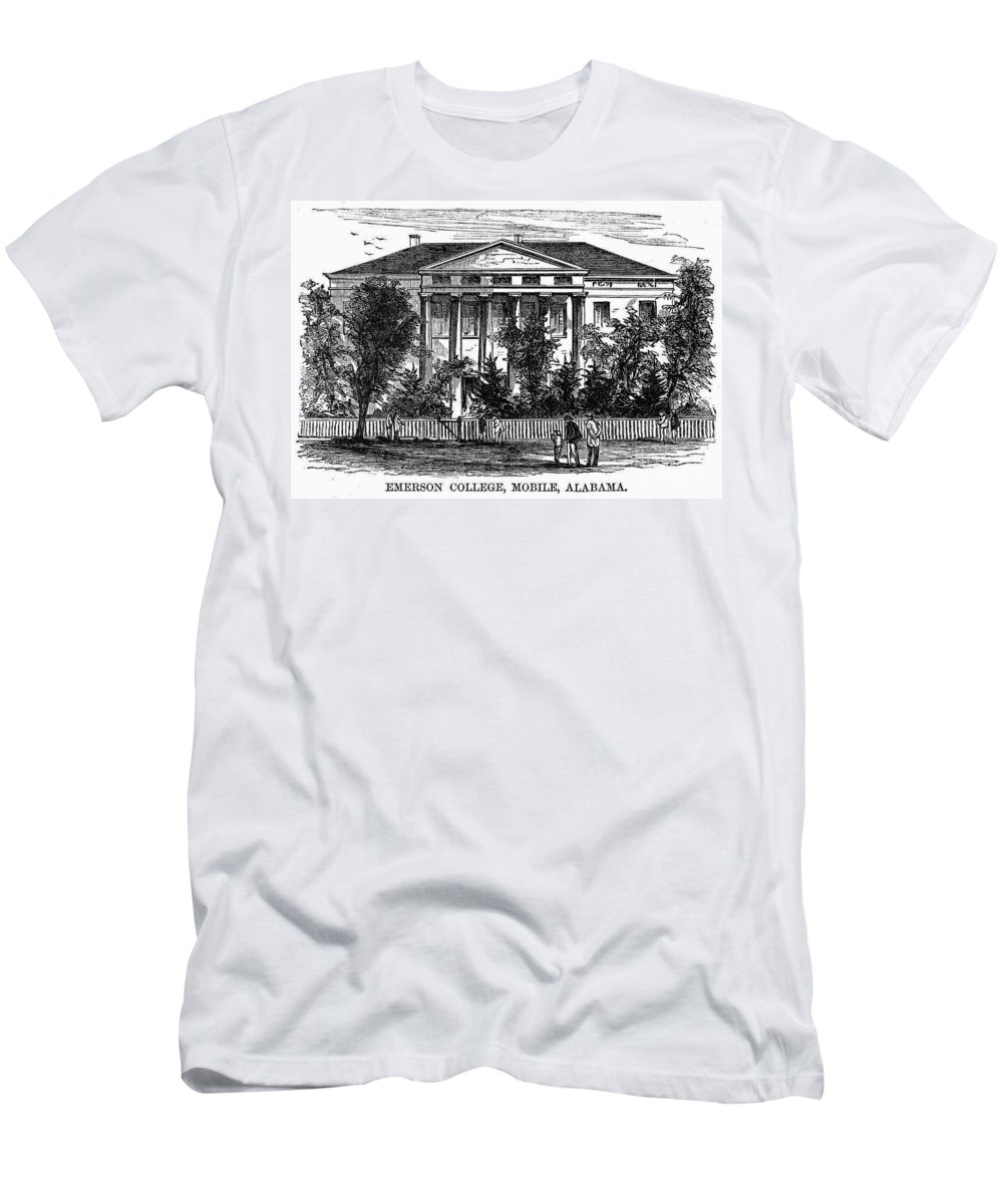 1868 Men's T-Shirt (Athletic Fit) featuring the photograph Alabama: Emerson College by Granger