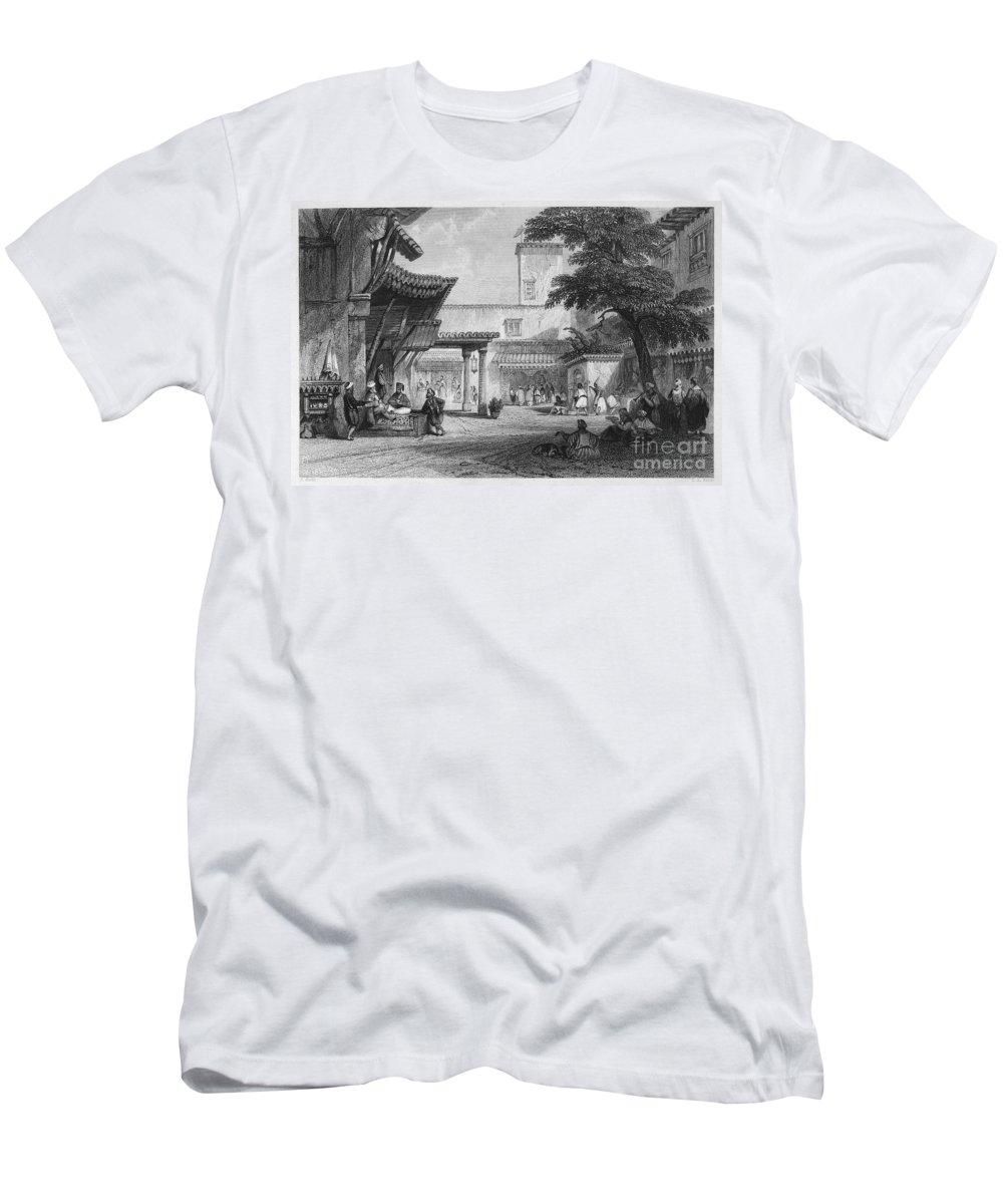 1840 Men's T-Shirt (Athletic Fit) featuring the photograph Algiers: Bazaar by Granger