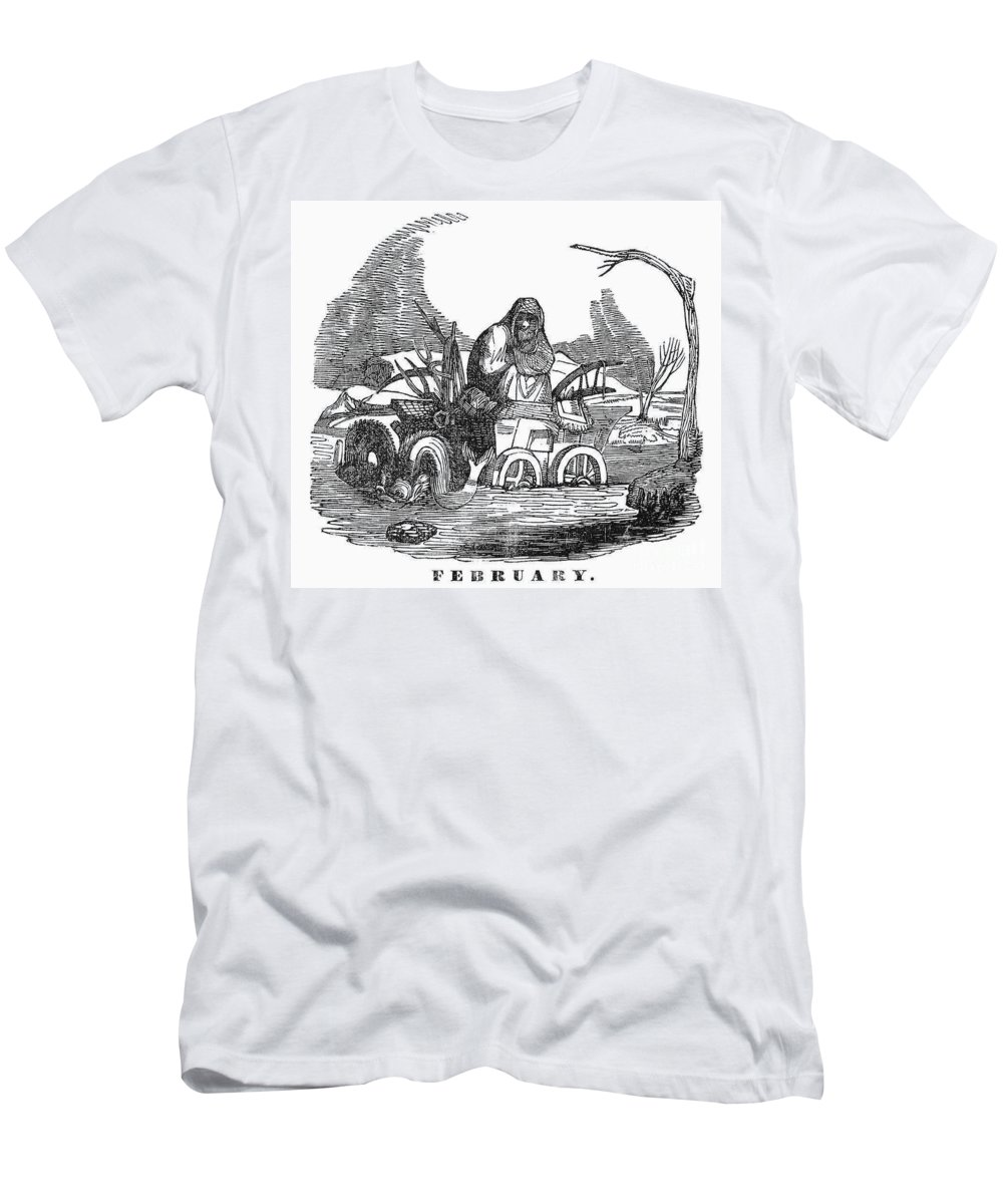 1837 Men's T-Shirt (Athletic Fit) featuring the photograph Allegory: February, 1837 by Granger
