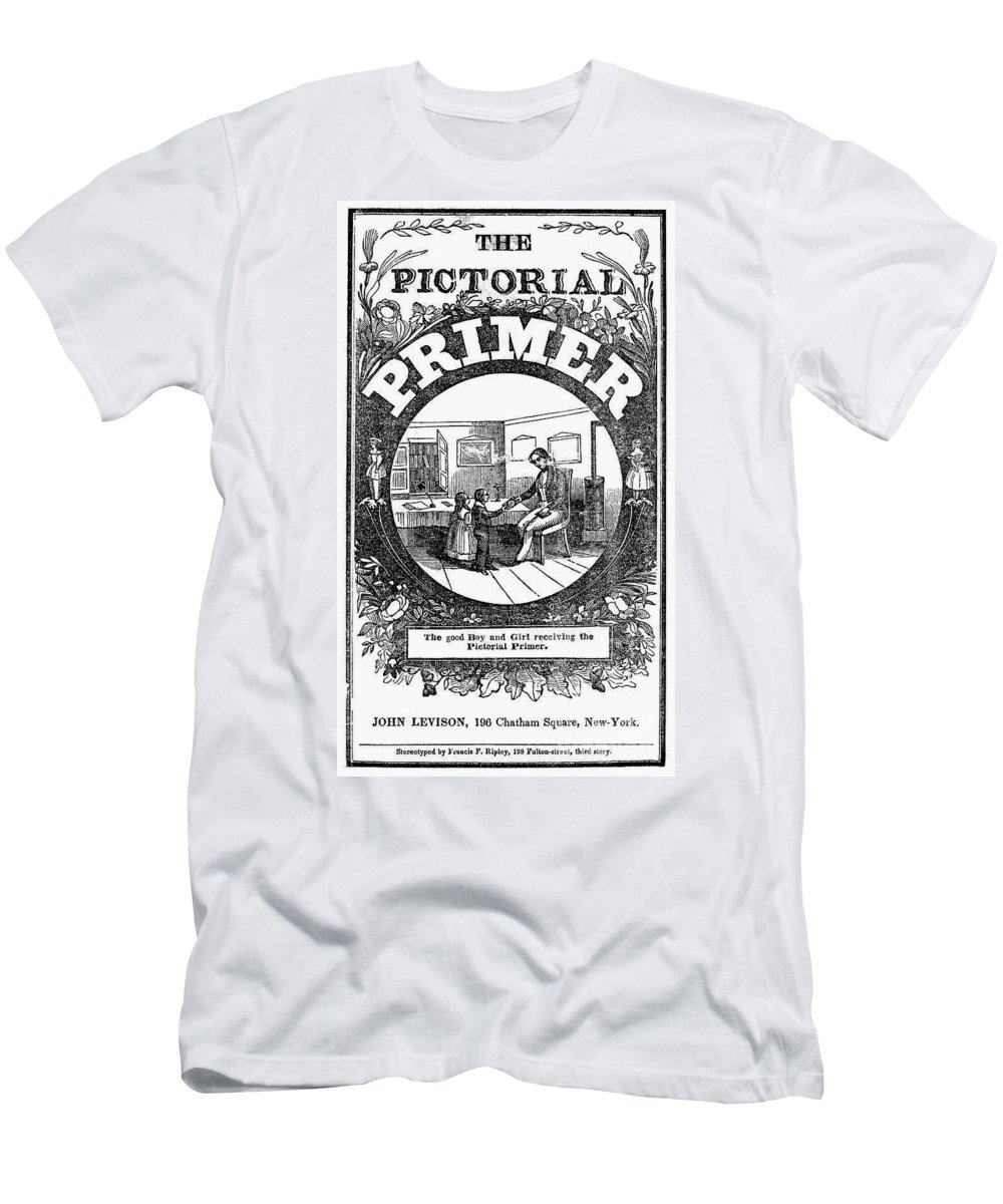 1845 Men's T-Shirt (Athletic Fit) featuring the photograph American Pictorial Primer by Granger