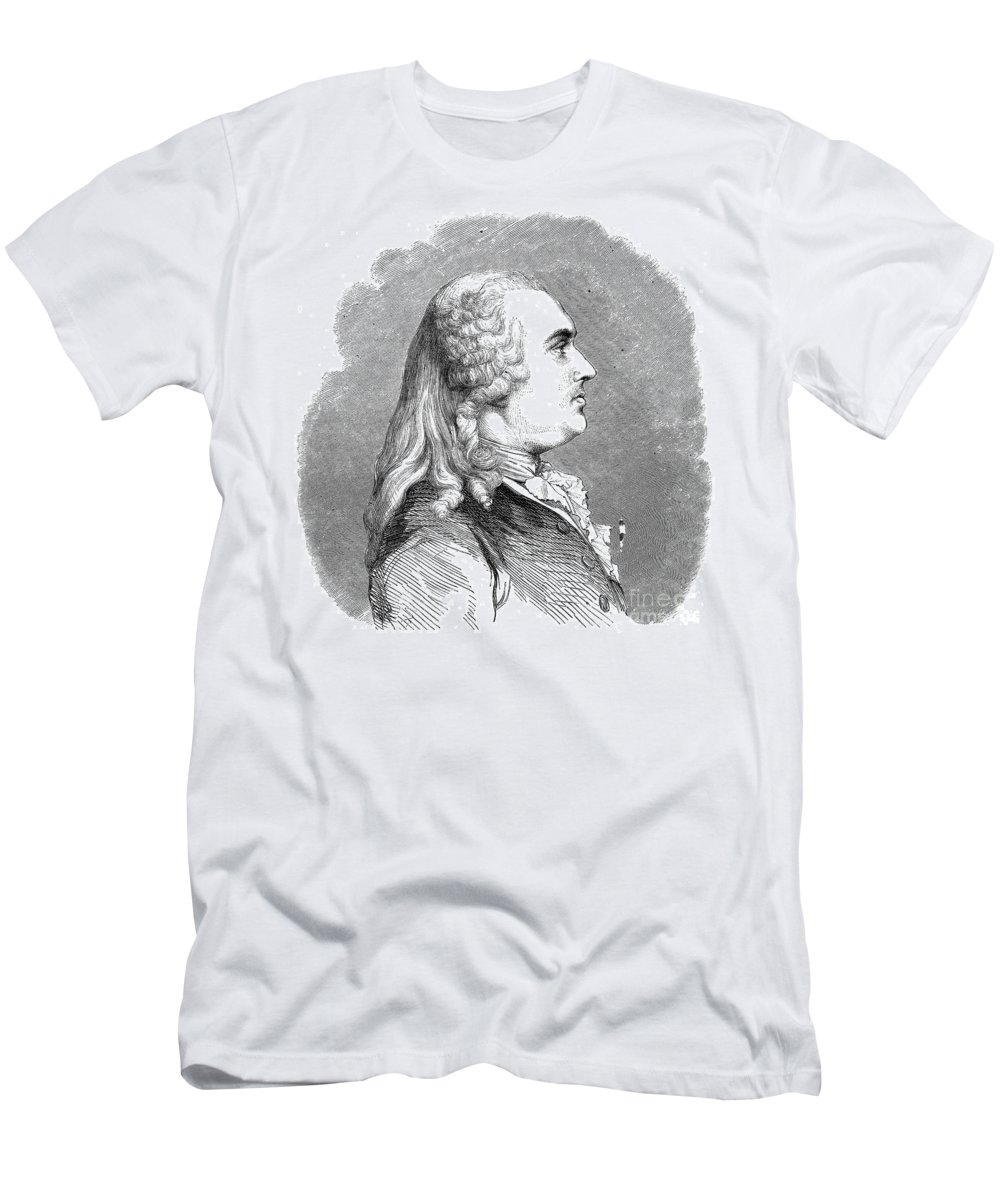 18th Century Men's T-Shirt (Athletic Fit) featuring the photograph Anne Robert Turgot by Granger