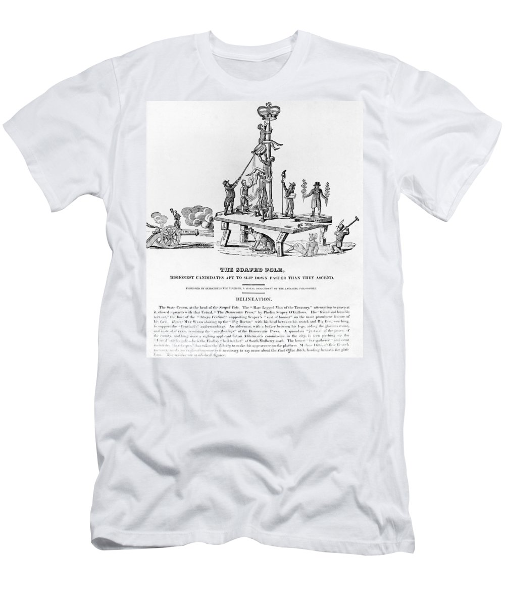 1817 Men's T-Shirt (Athletic Fit) featuring the photograph Anti-democrat Cartoon by Granger