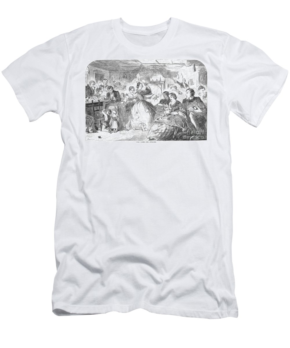 1859 Men's T-Shirt (Athletic Fit) featuring the photograph Apple Bee, 1859 by Granger