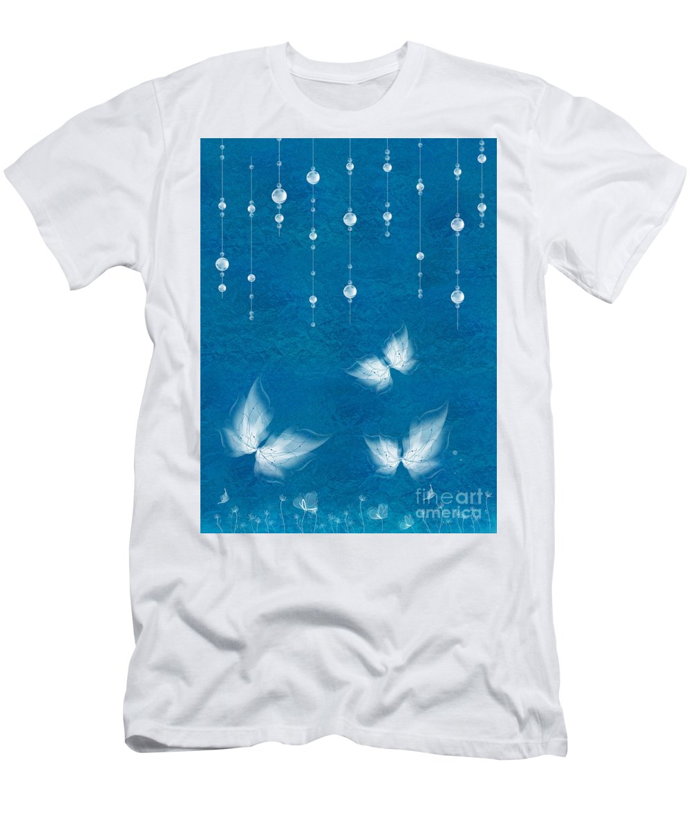 Butterfly Men's T-Shirt (Athletic Fit) featuring the digital art Art En Blanc - S11dt01 by Variance Collections