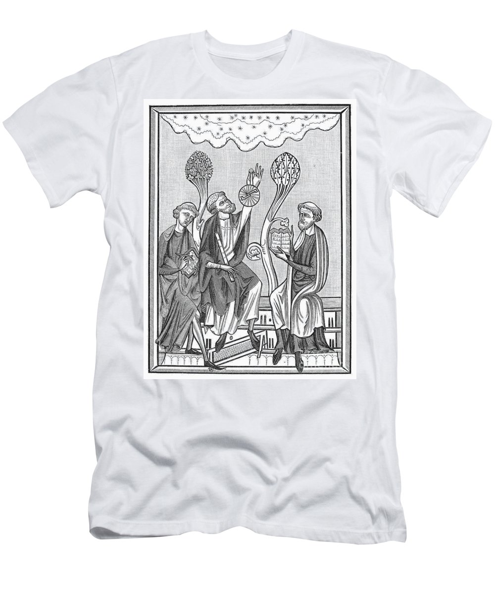 13th Century Men's T-Shirt (Athletic Fit) featuring the photograph Astronomy, 13th Century by Granger