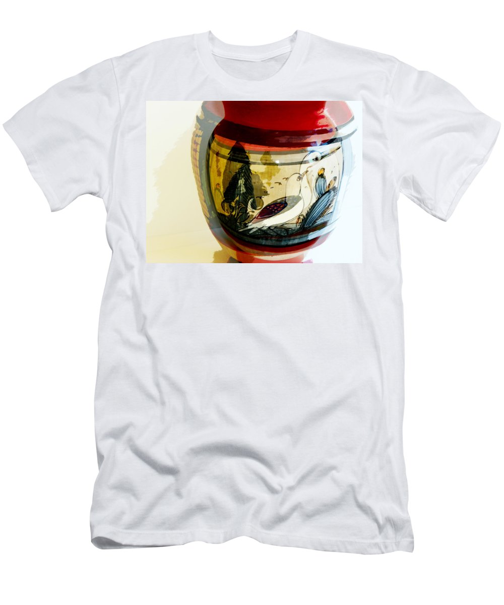 Abstract Men's T-Shirt (Athletic Fit) featuring the photograph At Least Two Sides To Everything by Lenore Senior