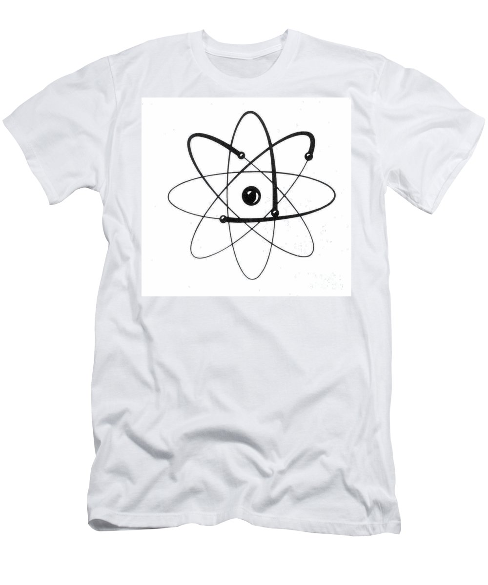 Atom Men's T-Shirt (Athletic Fit) featuring the photograph Atomic Energy by Granger