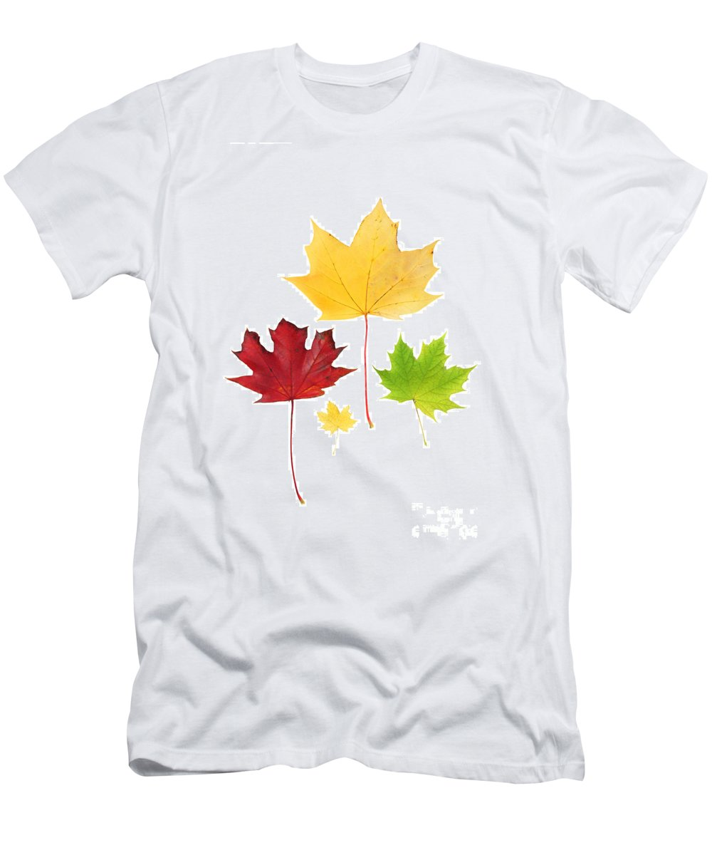 Autumn Men's T-Shirt (Athletic Fit) featuring the photograph Autumn Leaves Isolated by Simon Bratt Photography LRPS