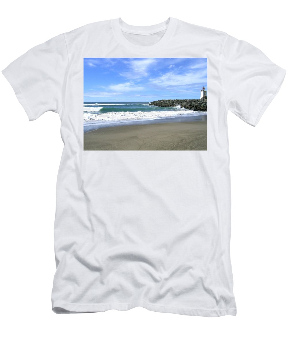 South Jetty Men's T-Shirt (Athletic Fit) featuring the photograph Bandon South Jetty by Will Borden
