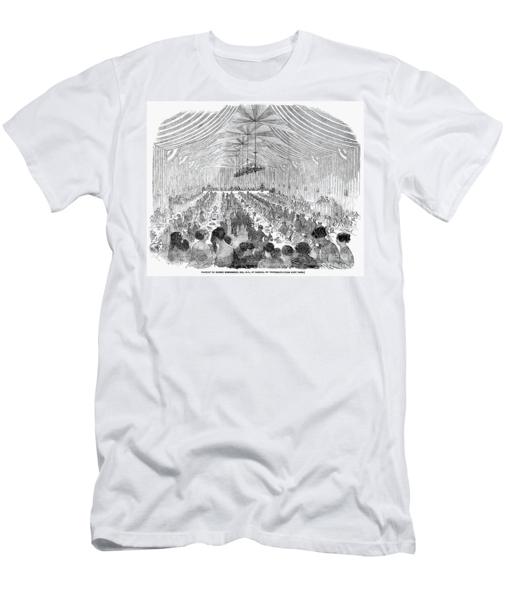 1851 Men's T-Shirt (Athletic Fit) featuring the photograph Banquet, 1851 by Granger