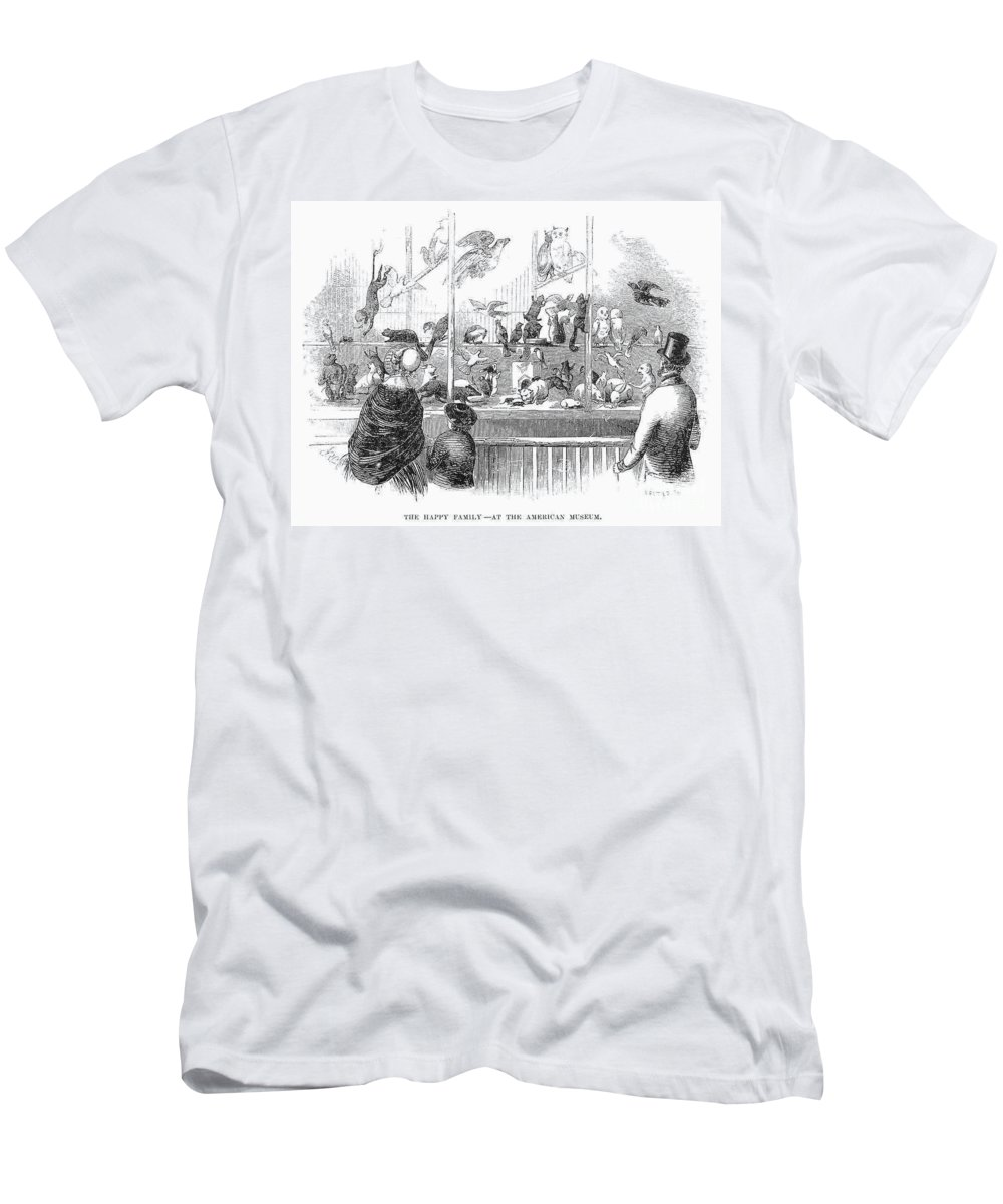 1853 Men's T-Shirt (Athletic Fit) featuring the photograph Barnums Museum, 1853 by Granger