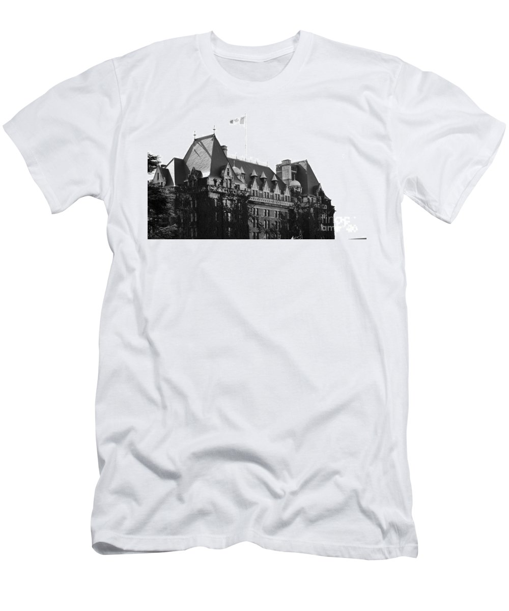 Dragon Boat Races Men's T-Shirt (Athletic Fit) featuring the photograph Bc Parliament by Traci Cottingham