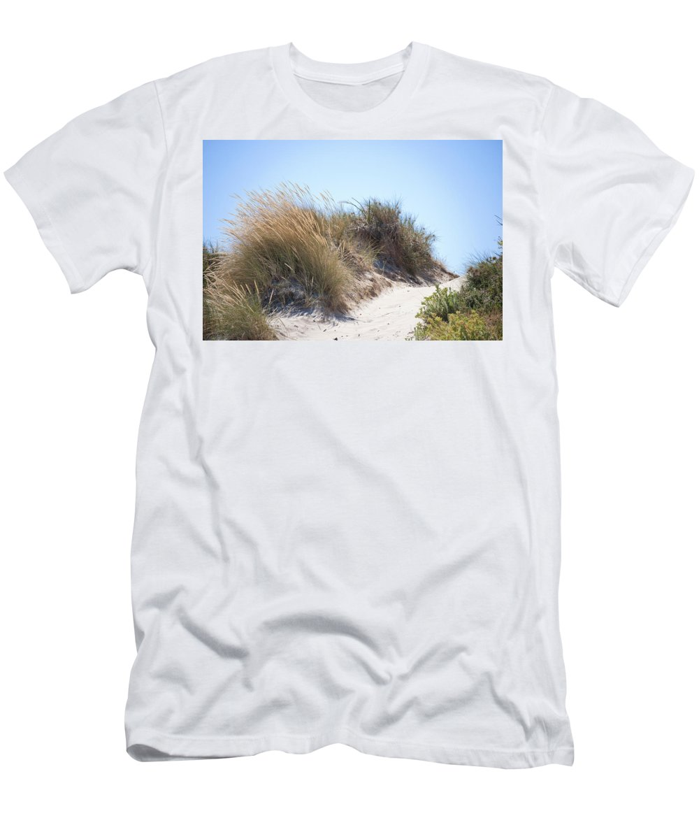 Beach Men's T-Shirt (Athletic Fit) featuring the photograph Beach Sand Dunes I by Michelle Wrighton