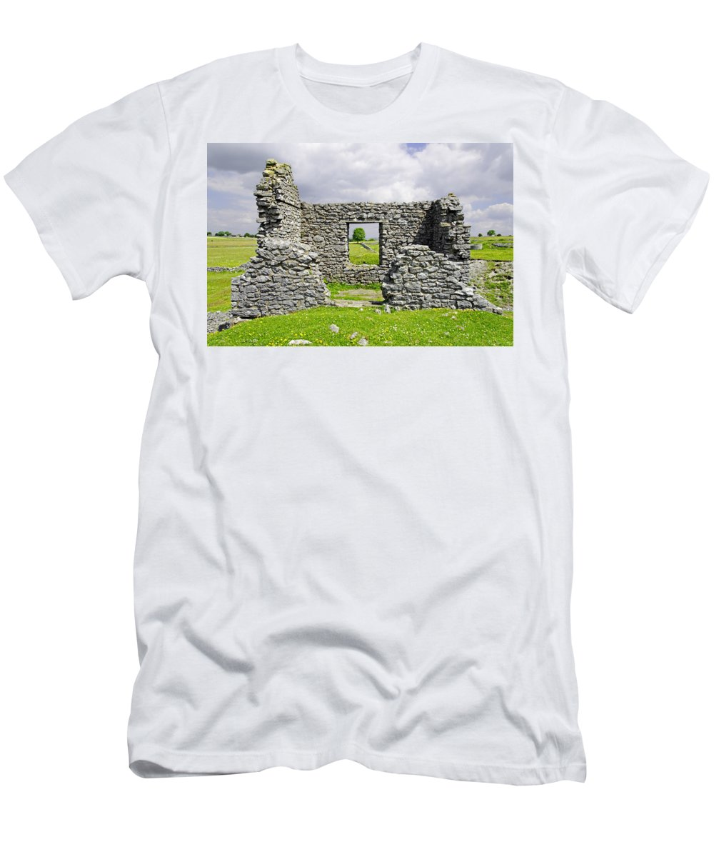 Countryside Men's T-Shirt (Athletic Fit) featuring the photograph Beam Engine House Remains At Magpie Mine - Sheldon by Rod Johnson
