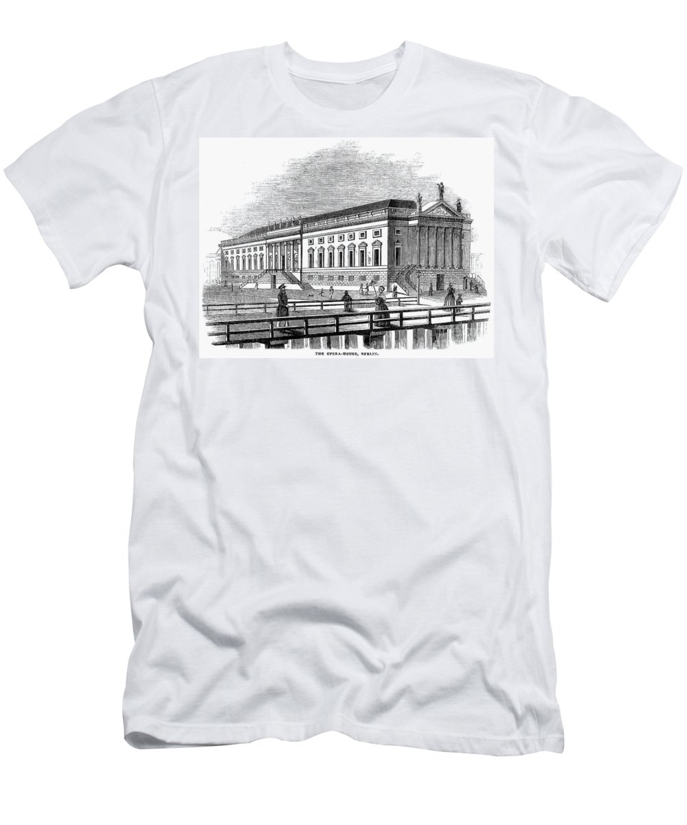 1843 Men's T-Shirt (Athletic Fit) featuring the photograph Berlin: Opera House, 1843 by Granger