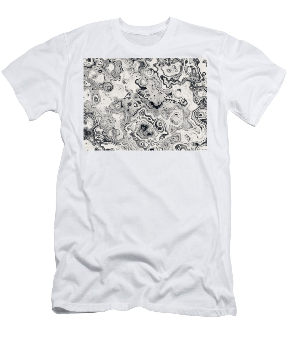 Abstract Men's T-Shirt (Athletic Fit) featuring the digital art Black And White Abstract II by Debbie Portwood