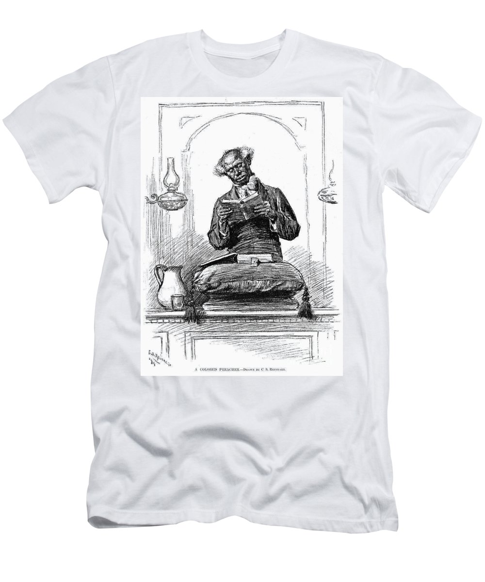 1890 Men's T-Shirt (Athletic Fit) featuring the photograph Black Preacher, 1890 by Granger