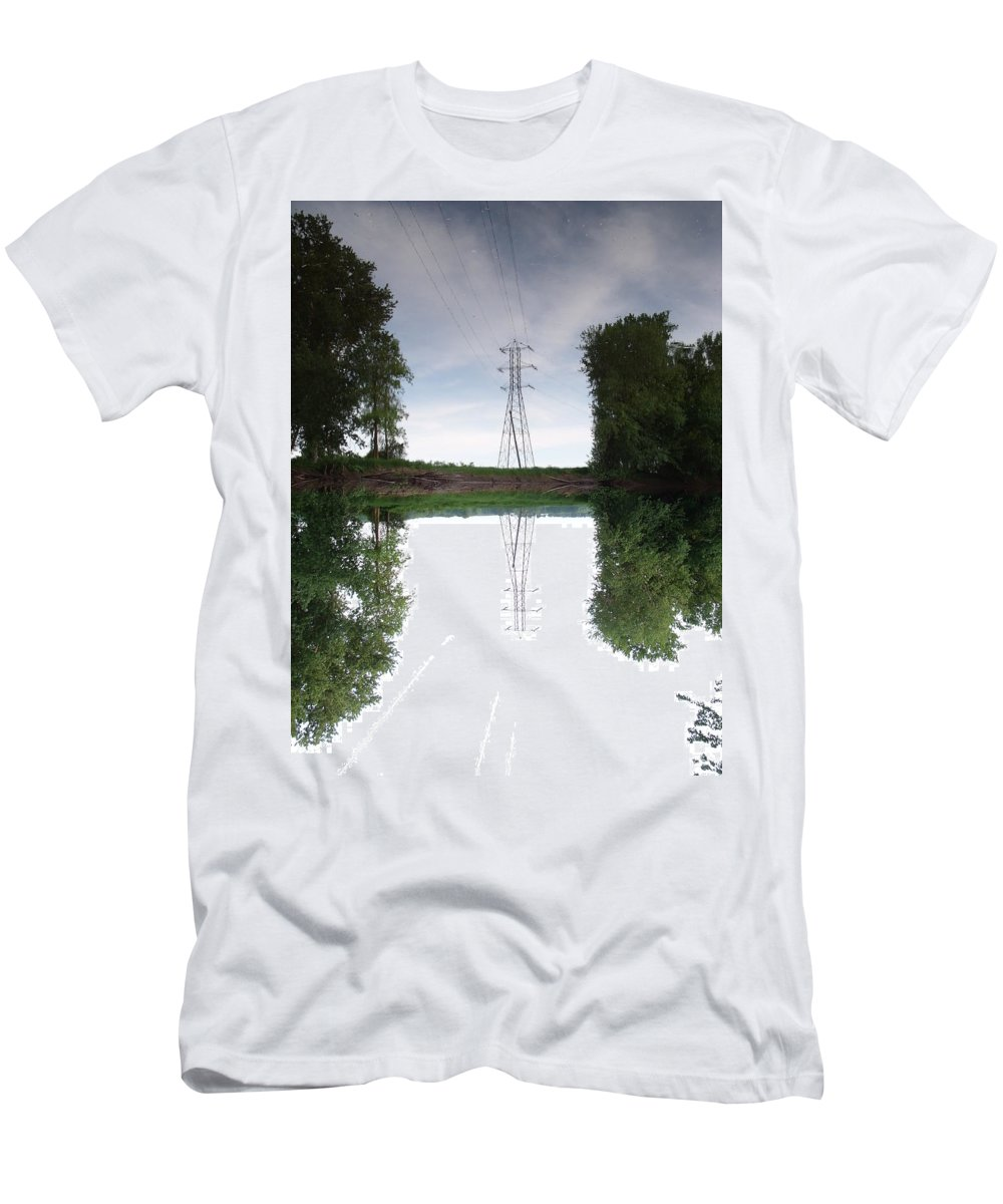 Tower Men's T-Shirt (Athletic Fit) featuring the photograph Black River Dadville Ny by Dennis Comins