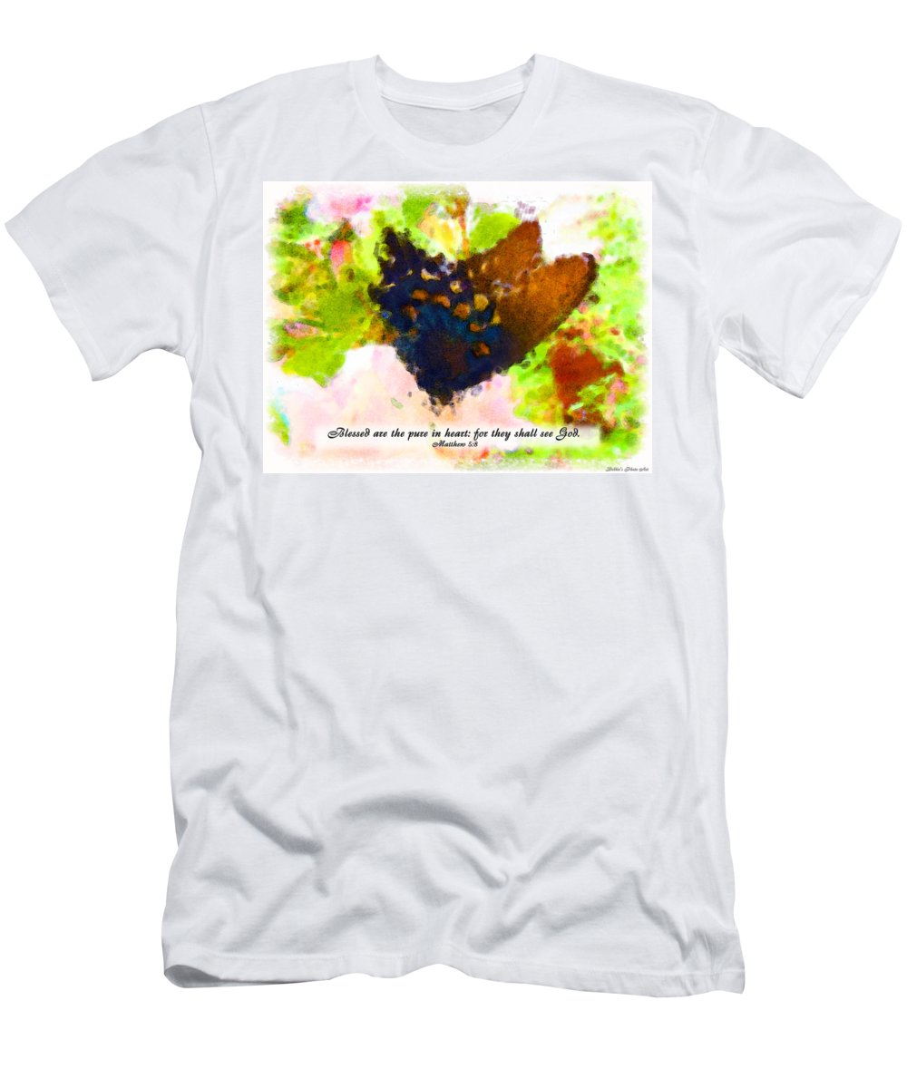 Men's T-Shirt (Athletic Fit) featuring the photograph Blessed Are The Pure In Heart by Debbie Portwood