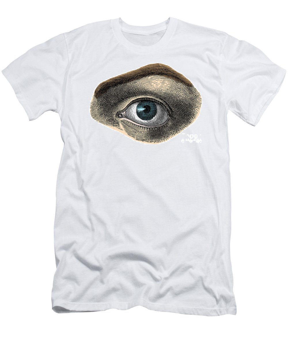 Eye Men's T-Shirt (Athletic Fit) featuring the photograph Blue Eye by Science Source